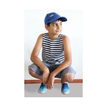 Майка - тельняшка детская с синей полосой