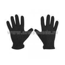 Перчатки флисовые черные (р-р 20)
