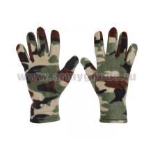 Перчатки флисовые камуфлированные зеленые (р-р 20)