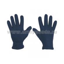 Перчатки флисовые синие (р-р 20)