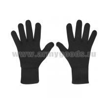 Перчатки п/ш двойной вязки черные (р-р 20)